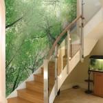 Лестница, украшенная фреской